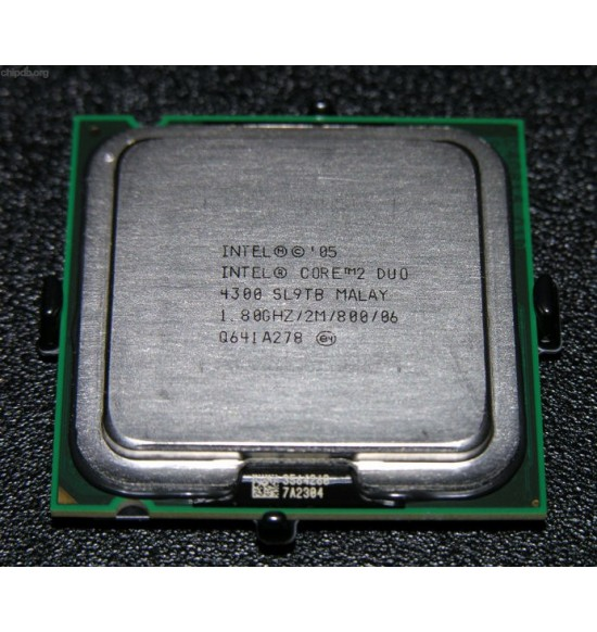 Intel® Core™2 Duo Processor E4300 (2M Cache, 1.80 GHz, 800 MHz FSB)